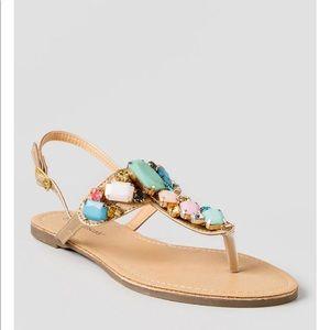 Quinney Jeweled Flat Sandal